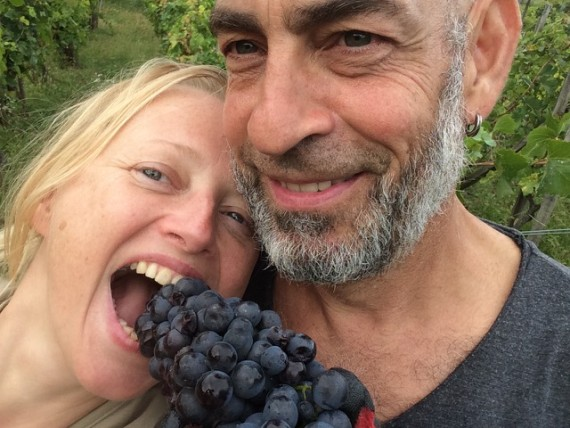 Karina and Aron, Pinot Noir harvest 2017.
