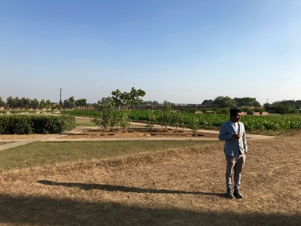 Sanjoo Malhotra, co-founder of Tasting India on the grounds of Vedatya, December 2017.