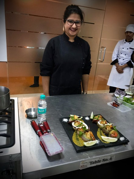 Chef Megha Kohli, Head Chef at the restaurant Lavaash Delhi, holding a class on how cuisines are reborn.