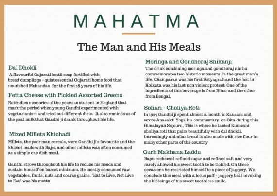 The meals that the great Mahatma Gandhi loved.